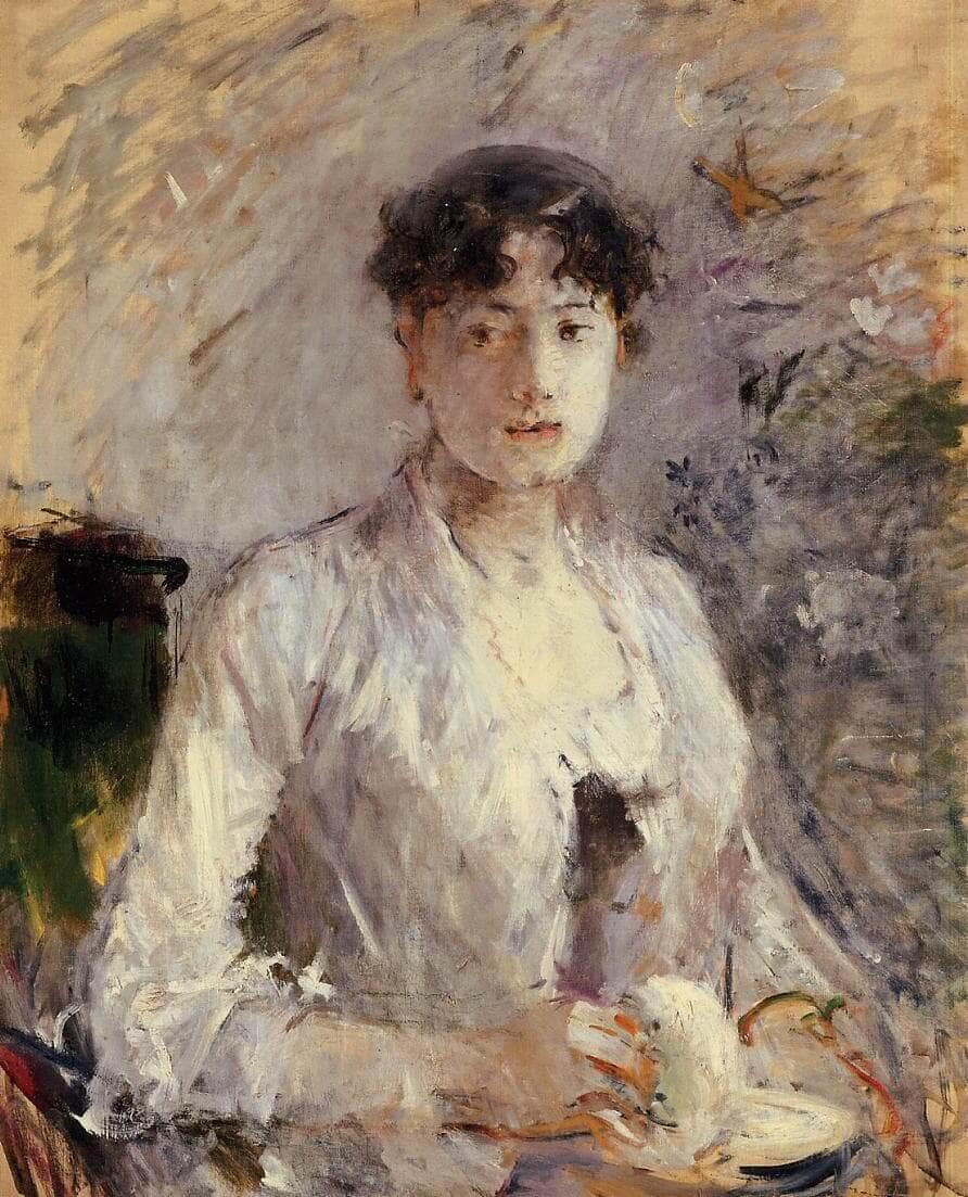 """Nuori nainen Mauvessa"", Berthe Morisot"